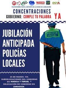 ANTICIPO EDAD JUBILACIÓN DE LA POLICÍA LOCAL