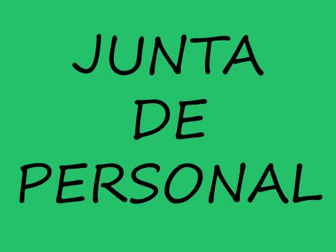 NUEVA JUNTA DE PERSONAL