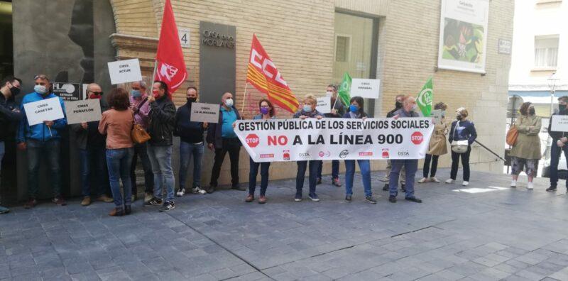 LOS SINDICATOS OSTA, UGT, CSIF, CCOO Y CGT, JUNTO A LA PLANTILLA DE LOS CMSS, VOLVEMOS A MANIFESTARNOS.