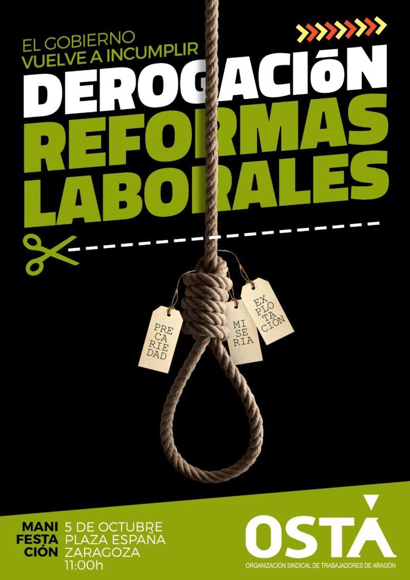 MANIFESTACIÓN DEROGACIÓN DE LAS REFORMAS LABORALES